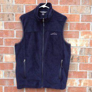 Eddie Bauer Men's Blue Polar Fleece Vest Size L